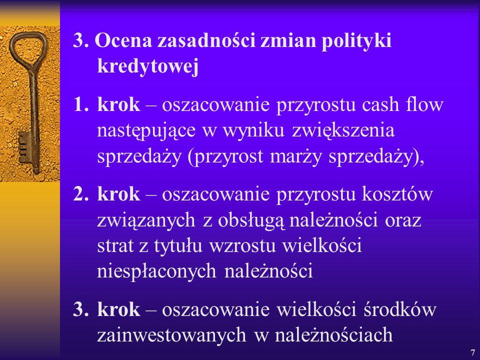 3. Ocena zasadności zmian polityki kredytowej