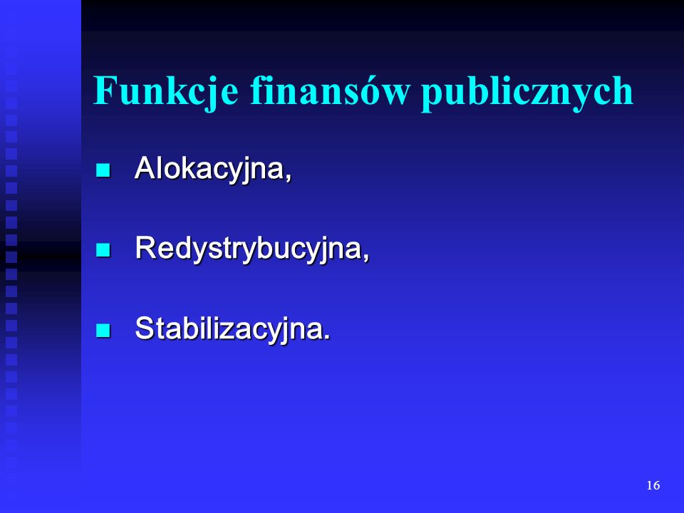 Funkcje finansów publicznych