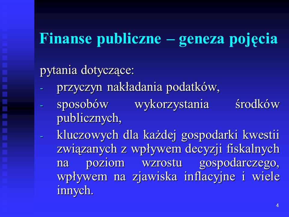Finanse publiczne – geneza pojęcia