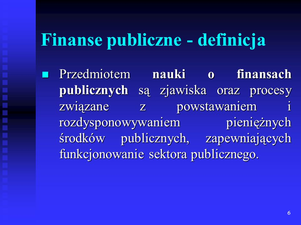 Finanse publiczne - definicja