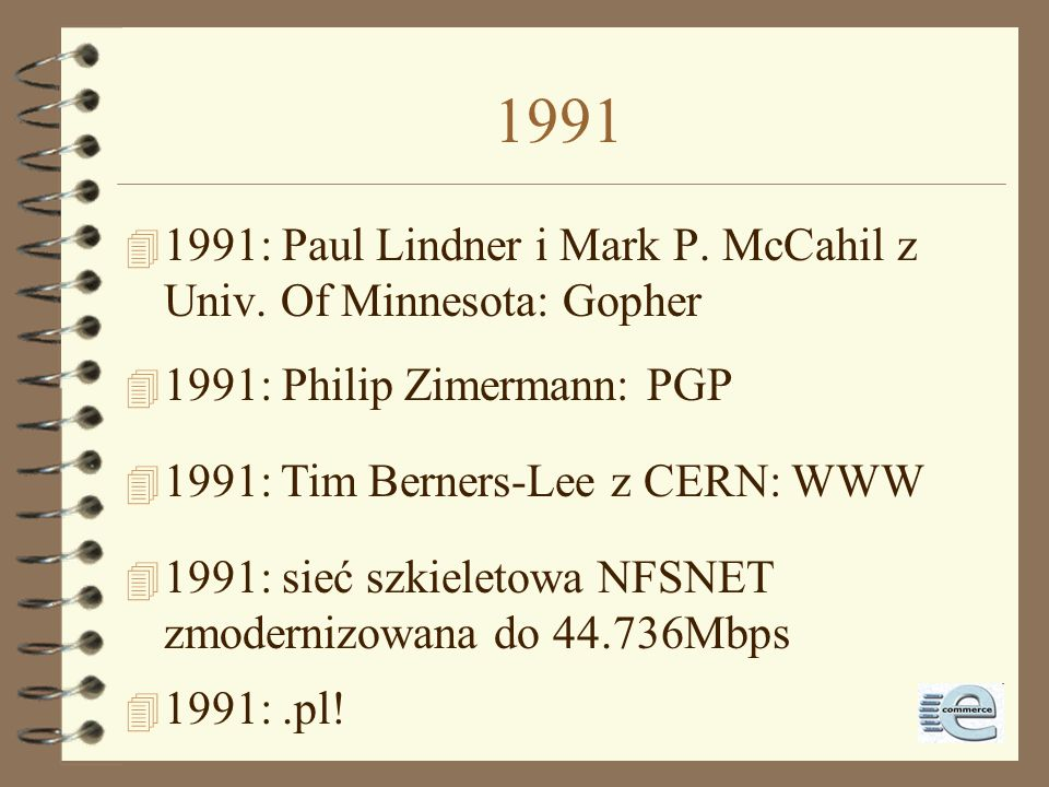 1991 1991: Paul Lindner i Mark P. McCahil z Univ. Of Minnesota: Gopher