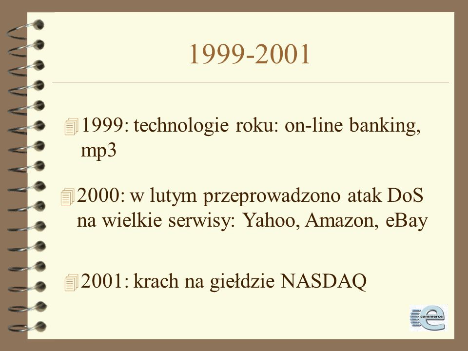 1999-2001 1999: technologie roku: on-line banking, mp3