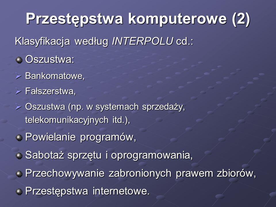 Przestępstwa komputerowe (2)