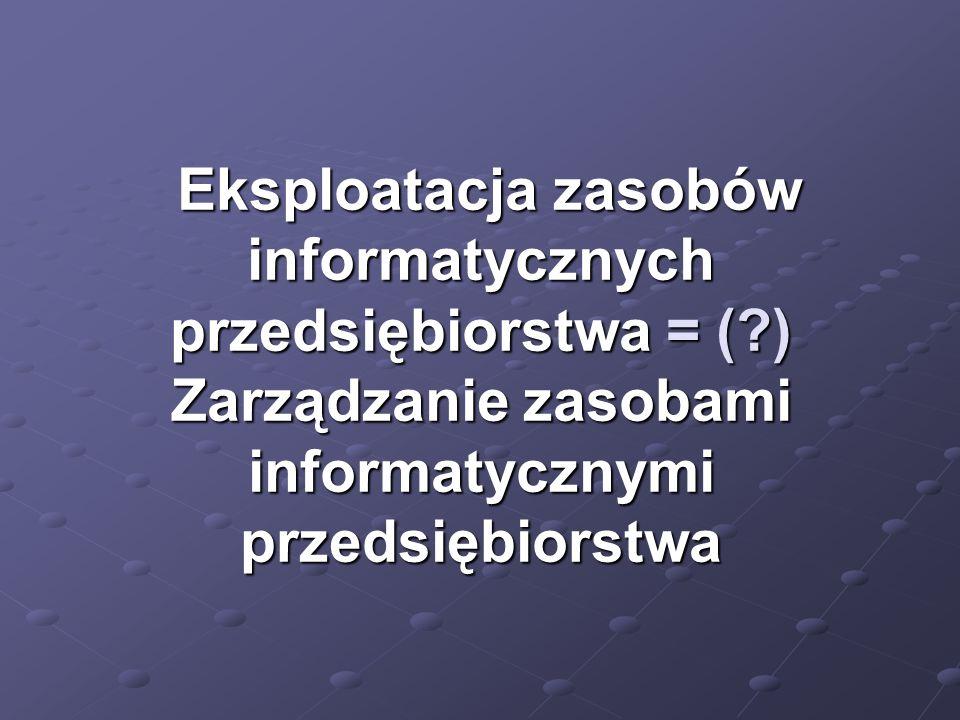 Eksploatacja zasobów informatycznych przedsiębiorstwa = (