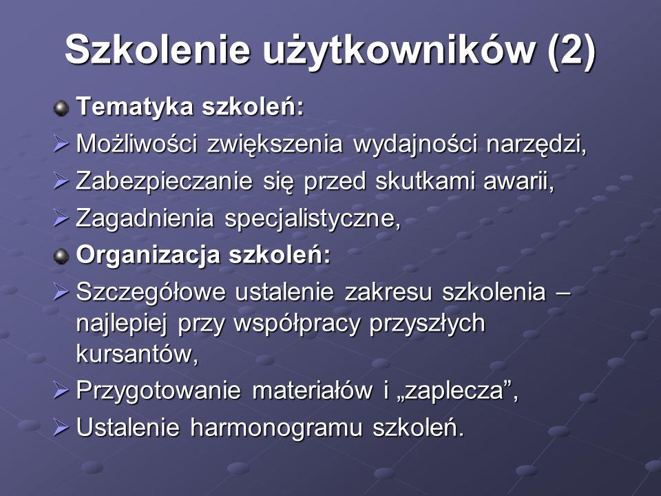 Szkolenie użytkowników (2)