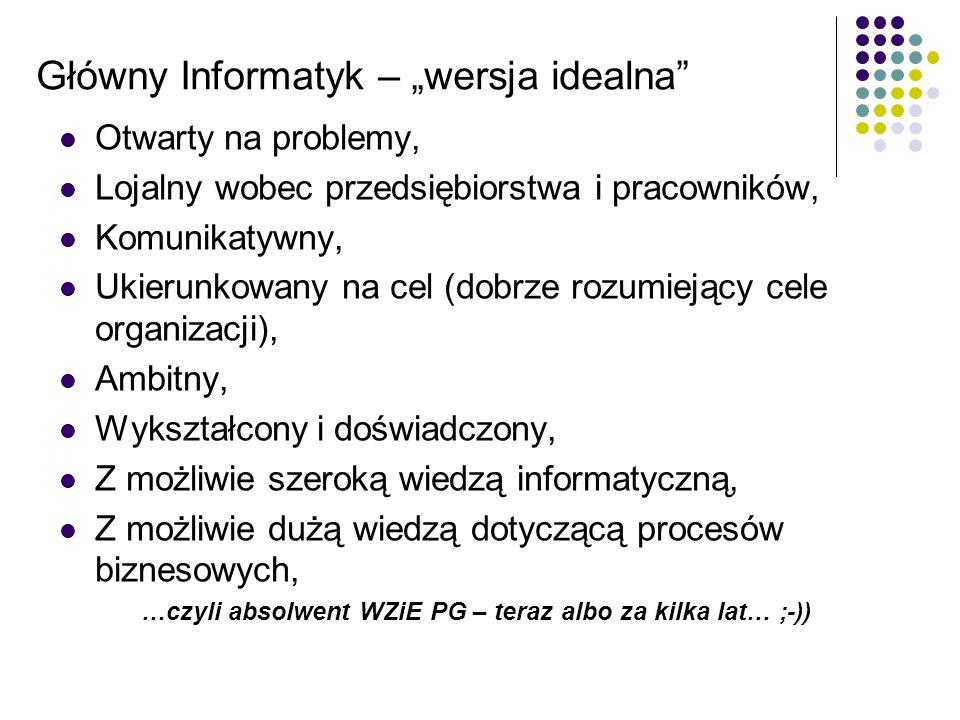"""Główny Informatyk – """"wersja idealna"""