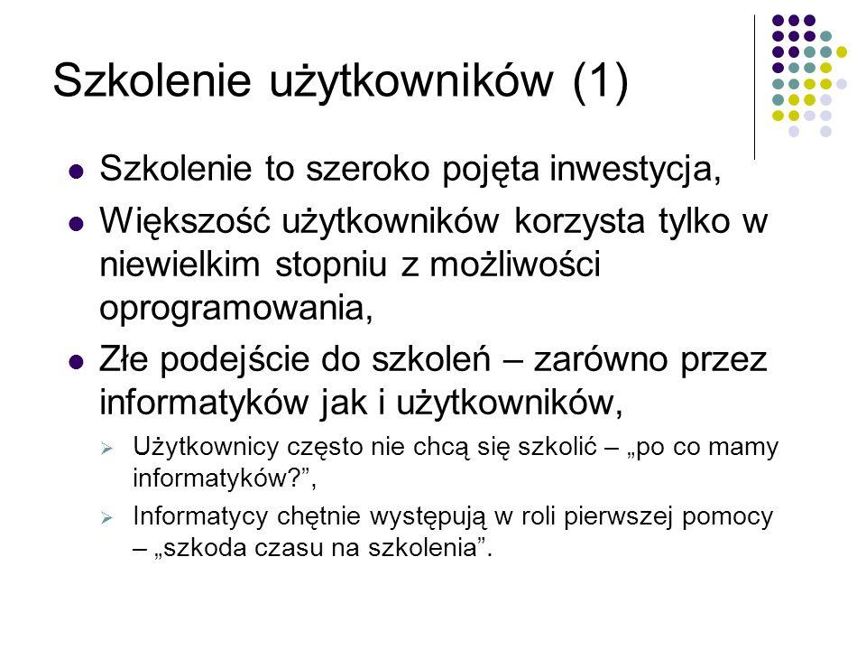 Szkolenie użytkowników (1)