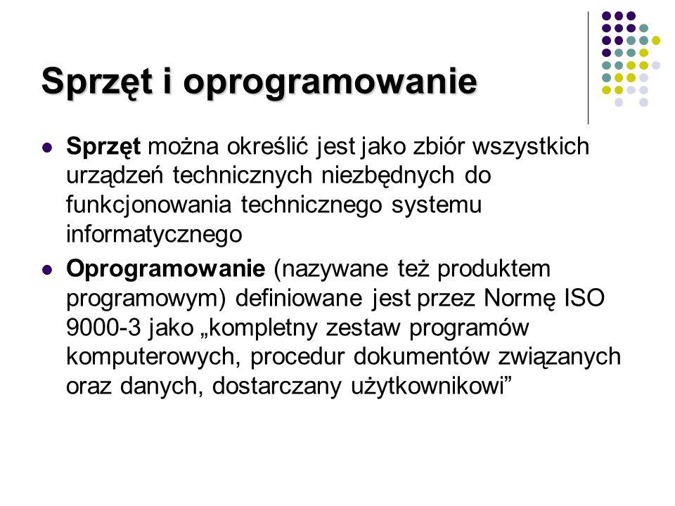 Sprzęt i oprogramowanie