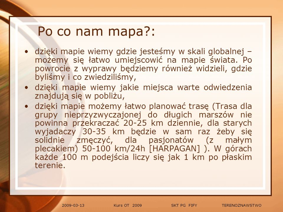 Po co nam mapa :