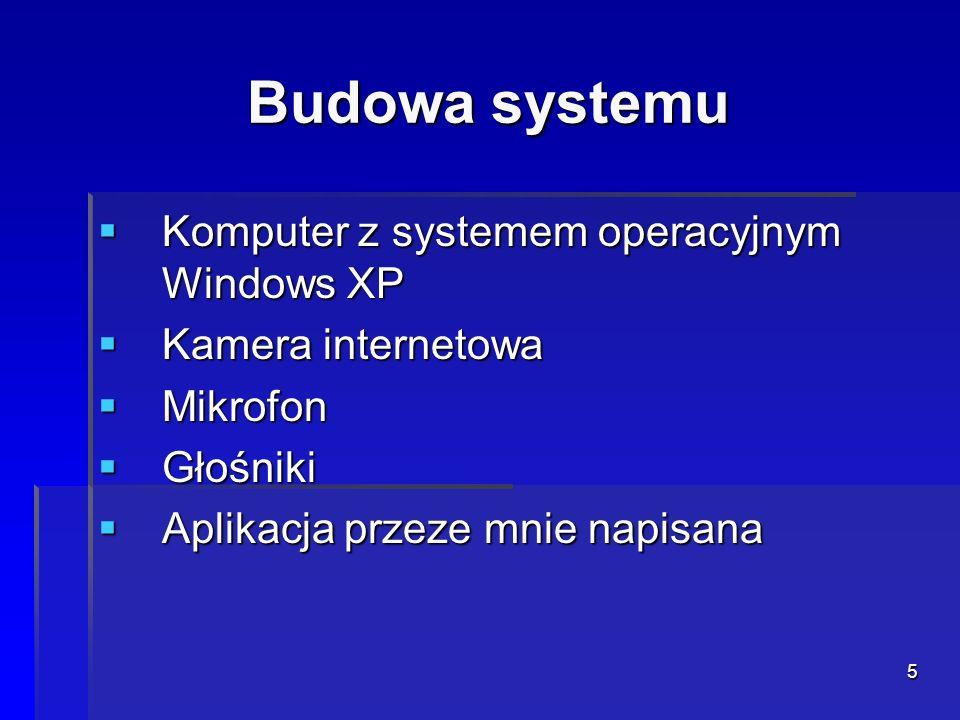 Budowa systemu Komputer z systemem operacyjnym Windows XP