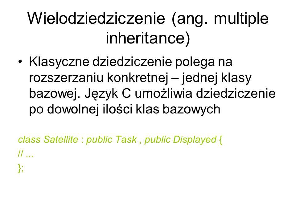 Wielodziedziczenie (ang. multiple inheritance)