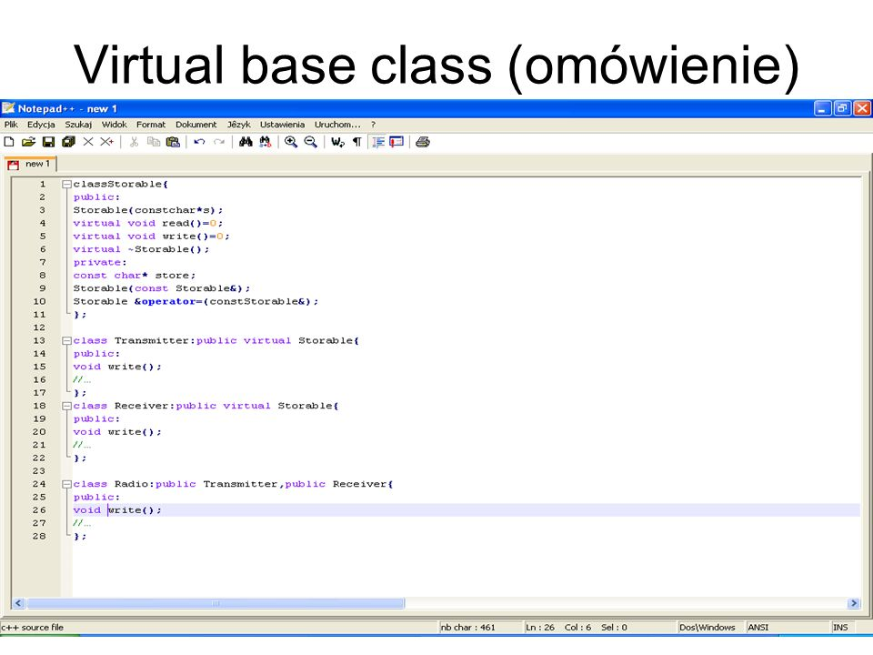 Virtual base class (omówienie)