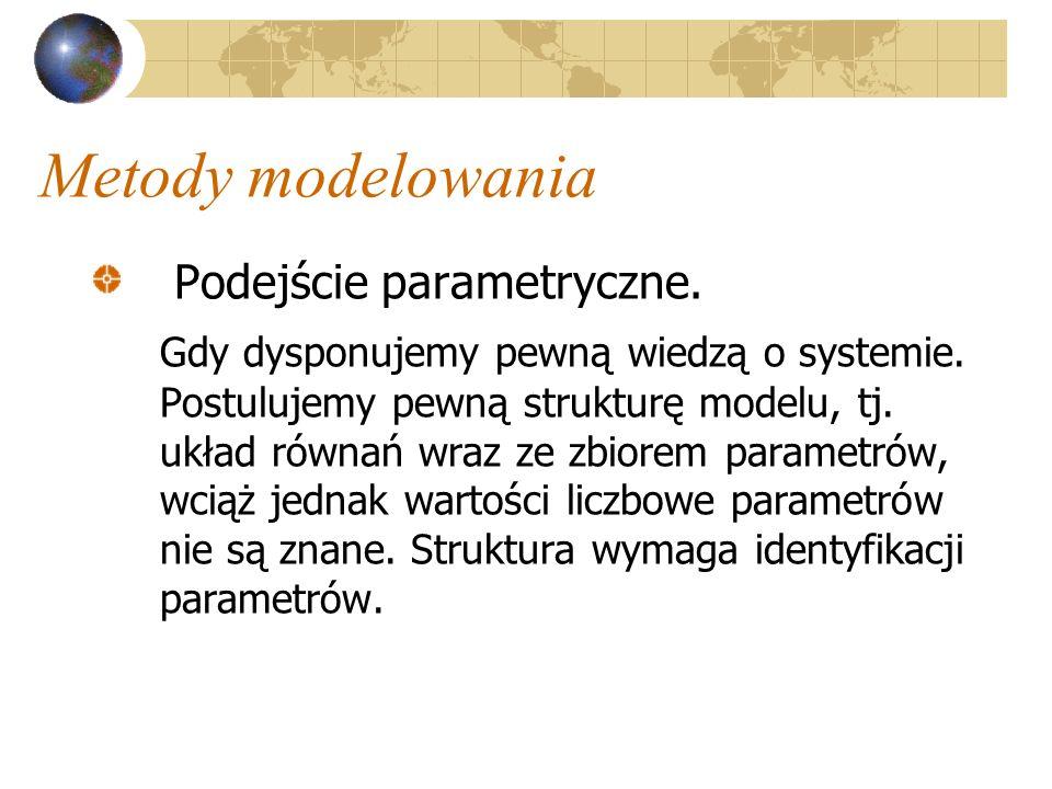 Metody modelowania Podejście parametryczne.