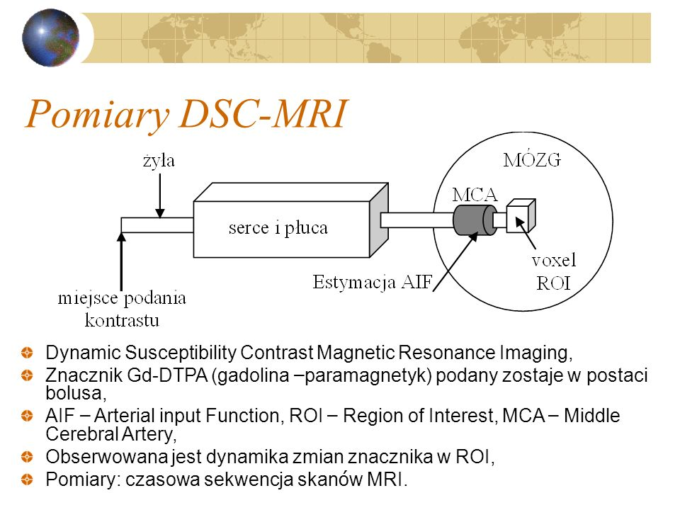 Pomiary DSC-MRIDynamic Susceptibility Contrast Magnetic Resonance Imaging,