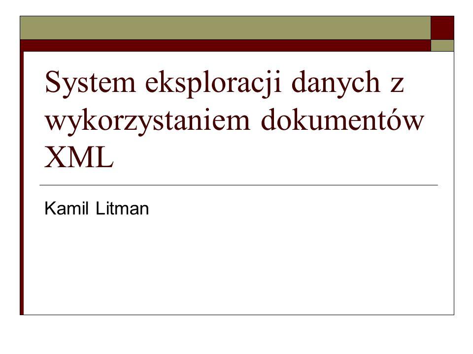 System eksploracji danych z wykorzystaniem dokumentów XML