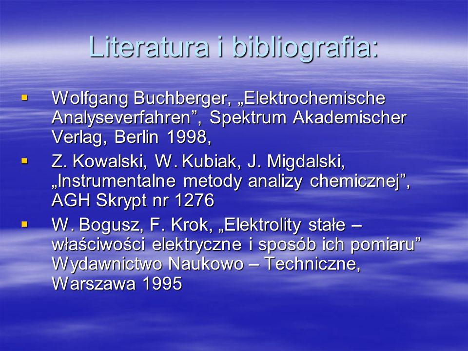 Literatura i bibliografia: