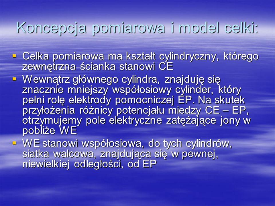 Koncepcja pomiarowa i model celki: