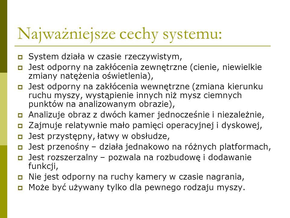 Najważniejsze cechy systemu: