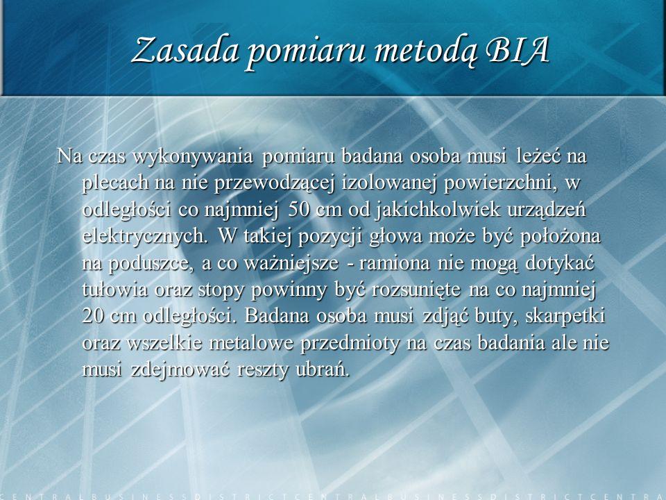 Zasada pomiaru metodą BIA