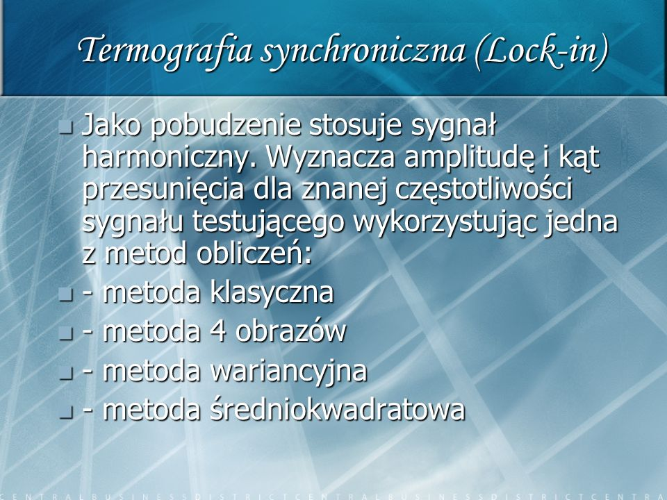 Termografia synchroniczna (Lock-in)