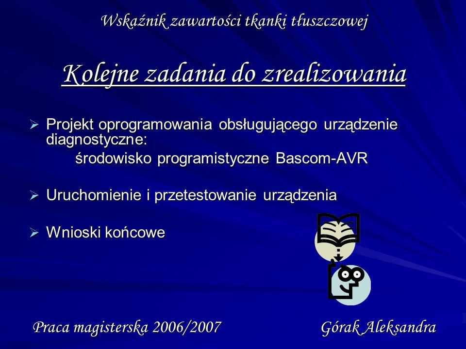 Praca magisterska 2006/2007 Górak Aleksandra