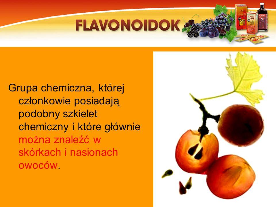 Grupa chemiczna, której członkowie posiadają podobny szkielet chemiczny i które głównie można znaleźć w skórkach i nasionach owoców.