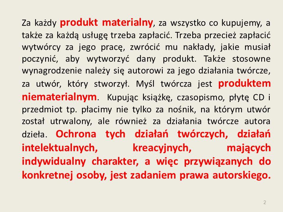Za każdy produkt materialny, za wszystko co kupujemy, a także za każdą usługę trzeba zapłacić.