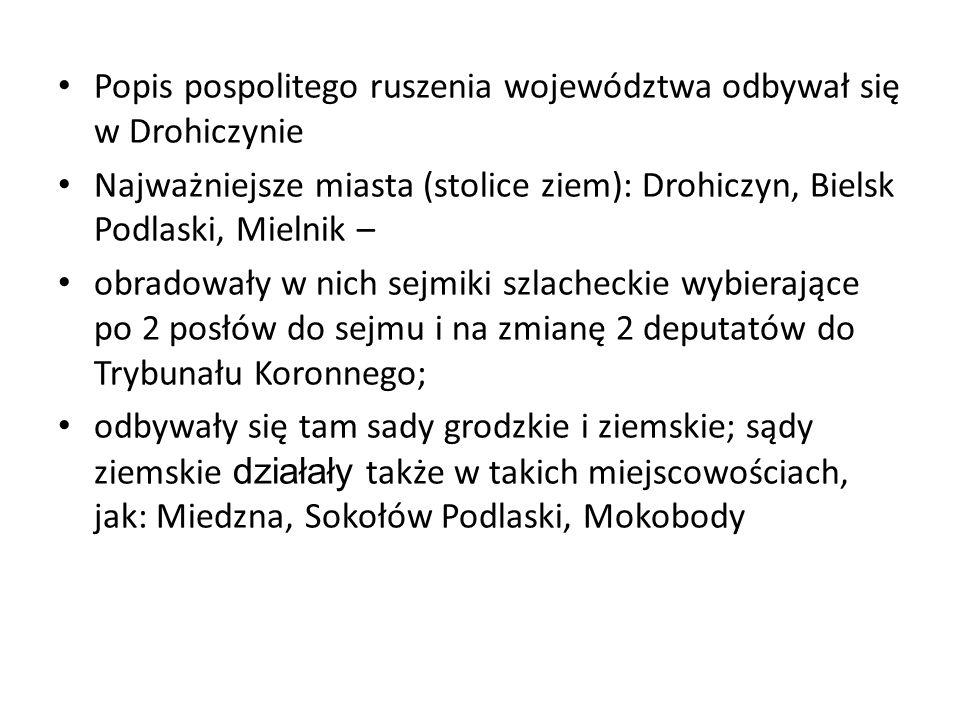 Popis pospolitego ruszenia województwa odbywał się w Drohiczynie