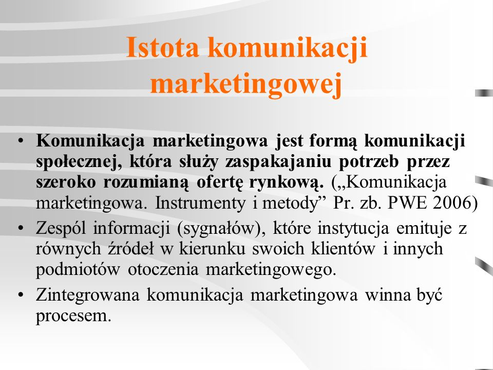Istota komunikacji marketingowej