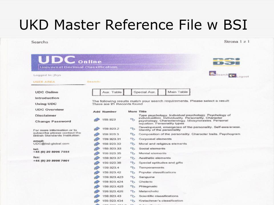 UKD Master Reference File w BSI