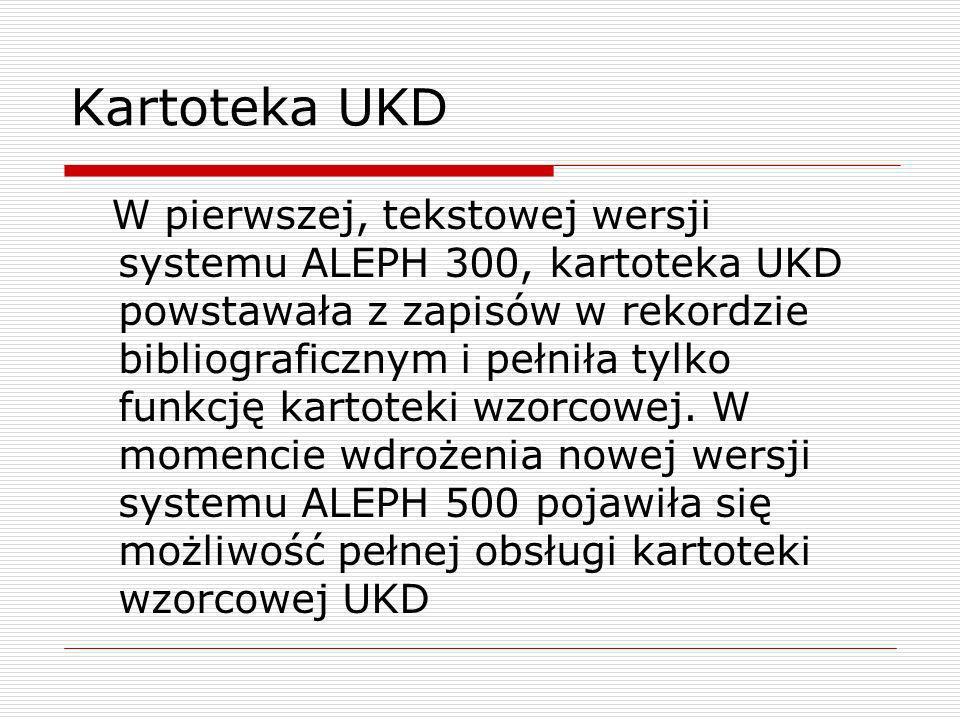 Kartoteka UKD