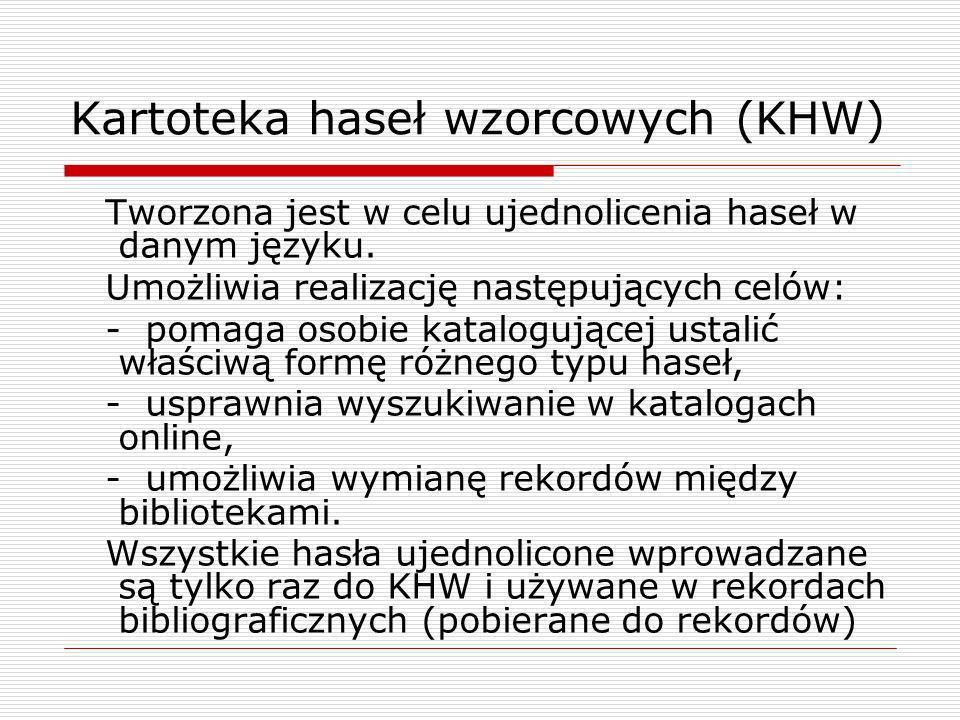 Kartoteka haseł wzorcowych (KHW)