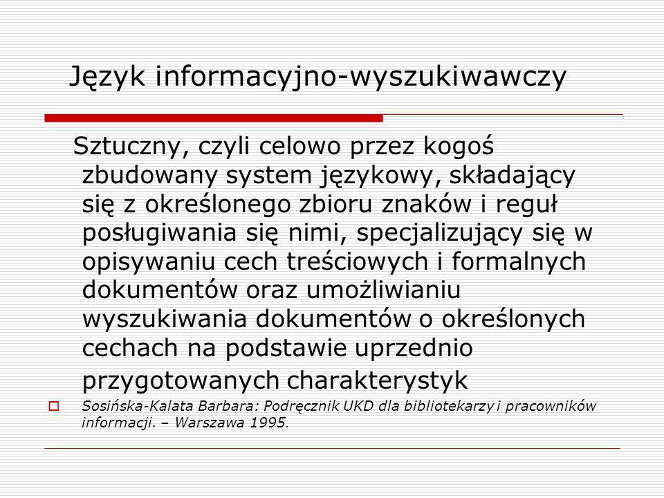 Język informacyjno-wyszukiwawczy