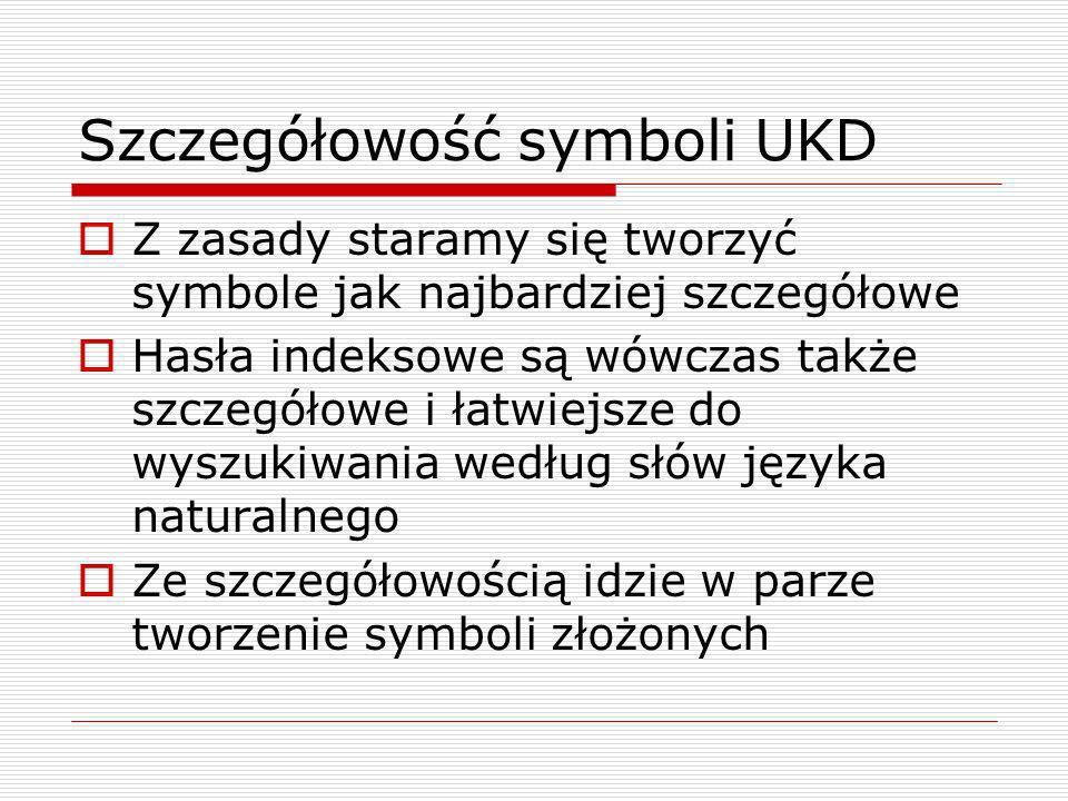 Szczegółowość symboli UKD