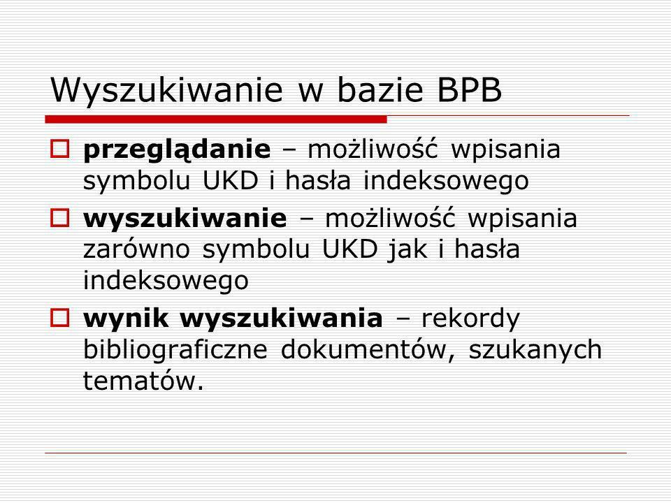 Wyszukiwanie w bazie BPB