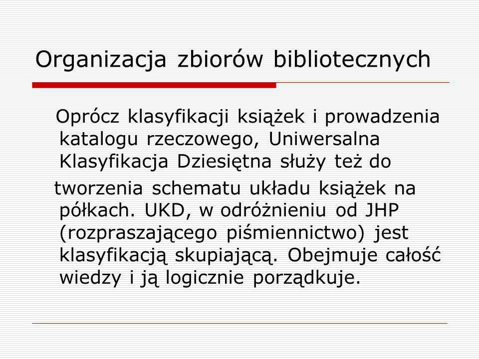 Organizacja zbiorów bibliotecznych