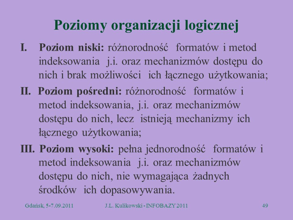 Poziomy organizacji logicznej