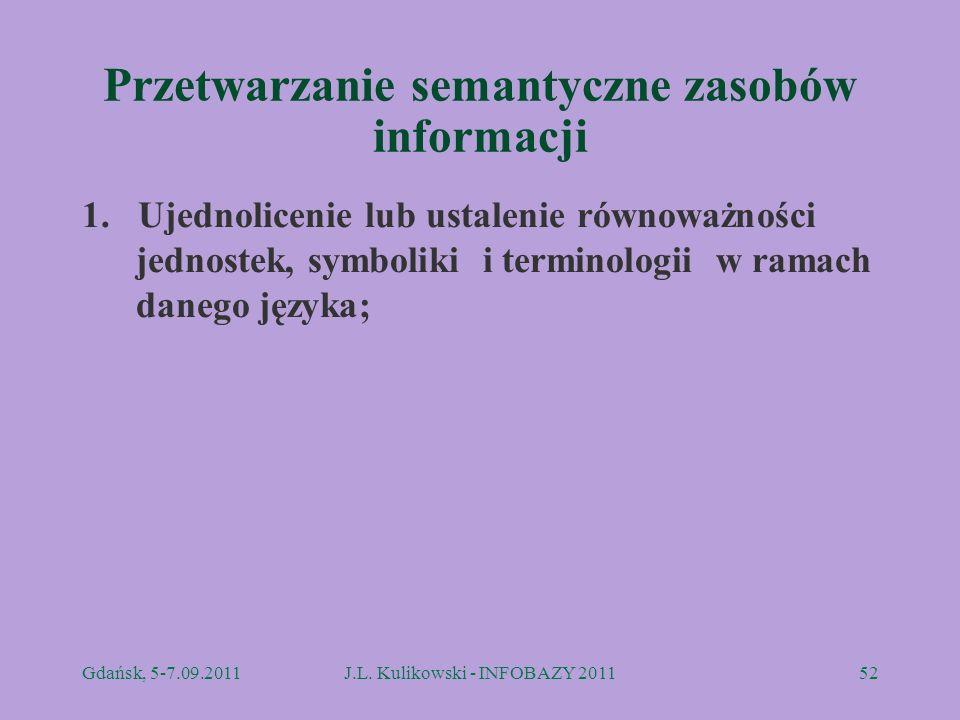 Przetwarzanie semantyczne zasobów informacji