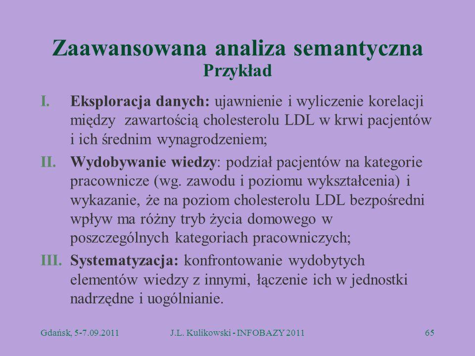 Zaawansowana analiza semantyczna Przykład