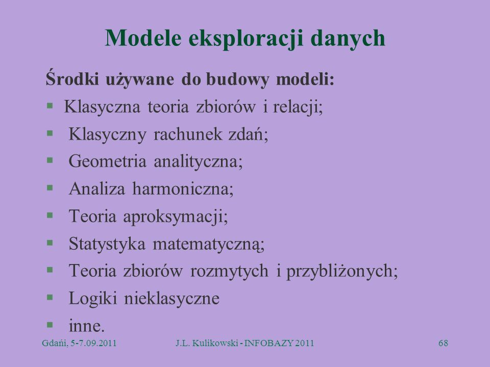 Modele eksploracji danych