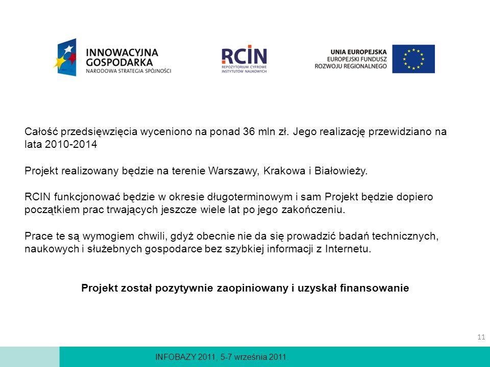 Projekt został pozytywnie zaopiniowany i uzyskał finansowanie