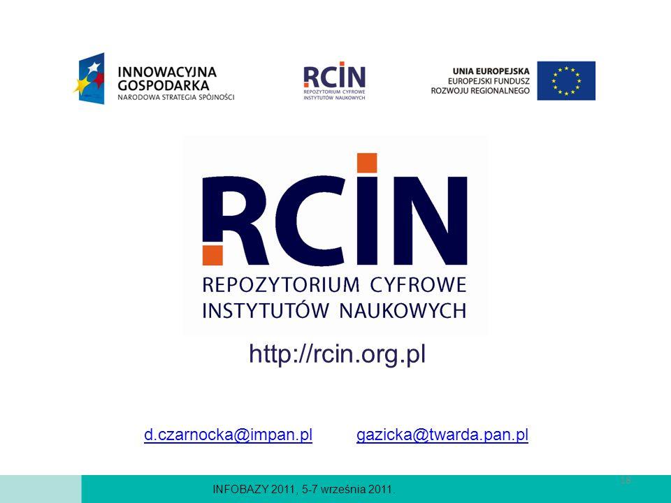 http://rcin.org.pl d.czarnocka@impan.pl gazicka@twarda.pan.pl