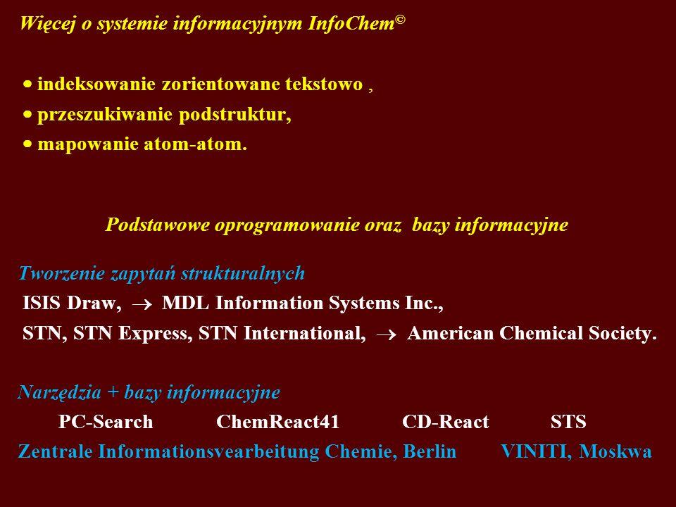 Podstawowe oprogramowanie oraz bazy informacyjne
