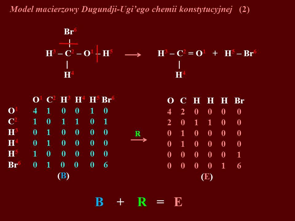 Model macierzowy Dugundji-Ugi'ego chemii konstytucyjnej (2)