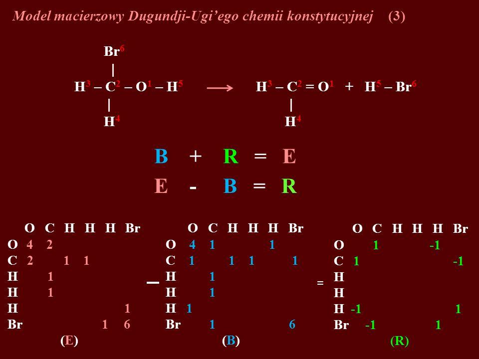 Model macierzowy Dugundji-Ugi'ego chemii konstytucyjnej (3)