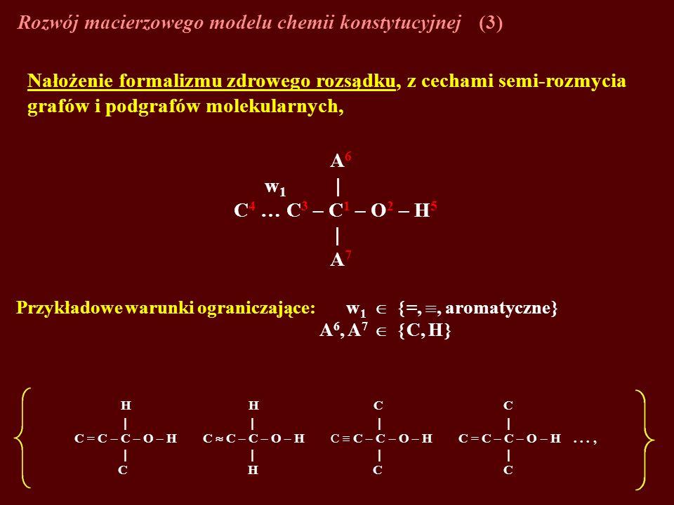 Rozwój macierzowego modelu chemii konstytucyjnej (3)