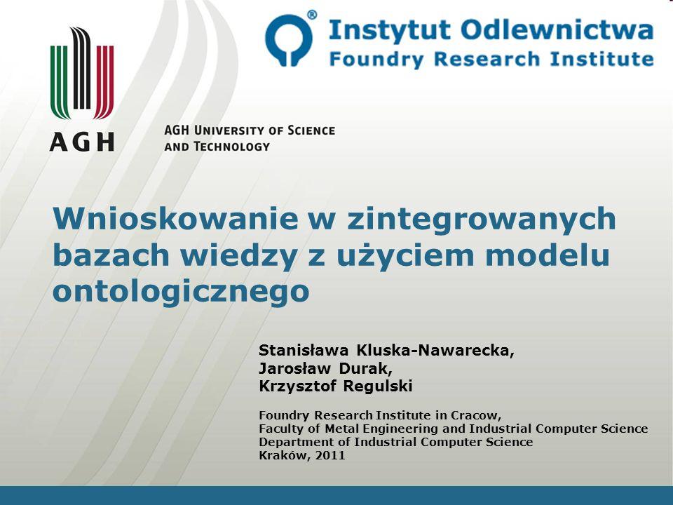 Wnioskowanie w zintegrowanych bazach wiedzy z użyciem modelu ontologicznego