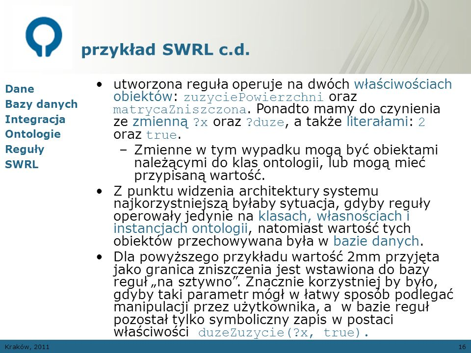 przykład SWRL c.d.