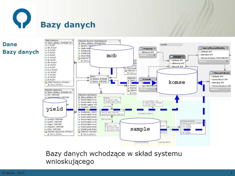 Bazy danych Bazy danych wchodzące w skład systemu wnioskującego Dane