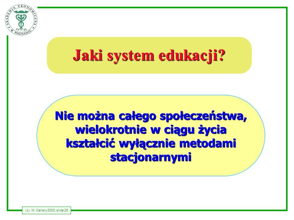 Jaki system edukacji Nie można całego społeczeństwa,